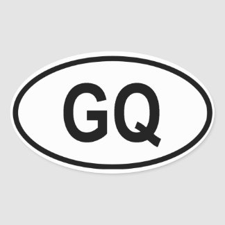 "Equatorial Guinea ""GQ"" Oval Sticker"