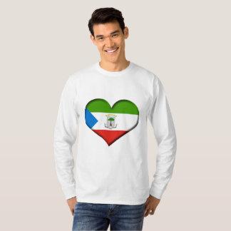 Equatorial Guinea Heart Flag T-Shirt