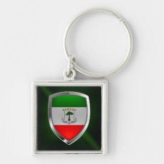 Equatorial Guinea Mettalic Emblem Keychain