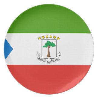 Equatorial Guinea National World Flag Plate