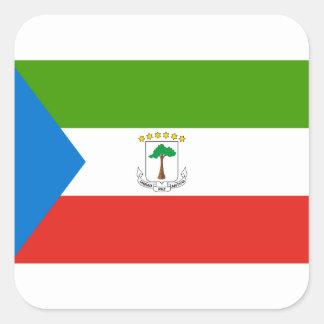 Equatorial Guinea National World Flag Square Sticker