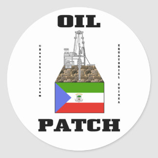 Equatorial Guinea Oil Patch Sticker,Oil Rig Gift Classic Round Sticker