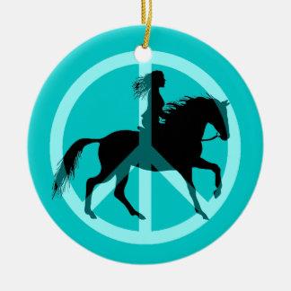 equestrian ceramic ornament