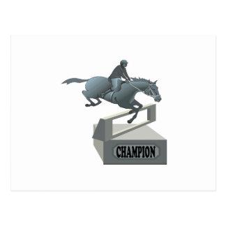 Equestrian Champion Postcard
