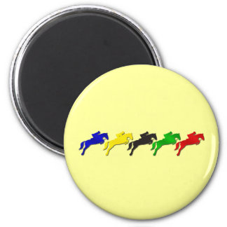 Equestrian dressage and show jumping horse 2 inch round magnet