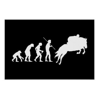 Equestrian Evolution from Man to Horseback Poster