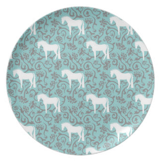 Equestrian Flower Motif Plate