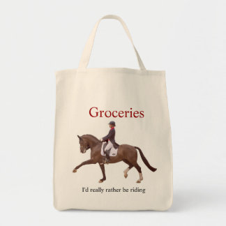 Equestrian Grocery Tote