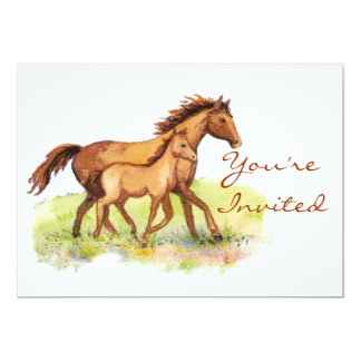 Equestrian Horse & Foal Invite