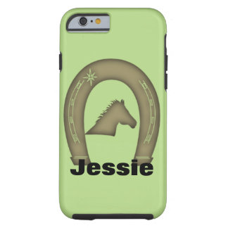 Equestrian Horse Head Horse Shoe Print Tough iPhone 6 Case