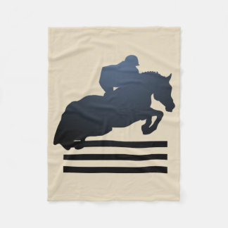 Equestrian Horse Jumping Hunters Jumpers Blanket
