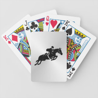 Equestrian Jumper Bicycle Playing Cards