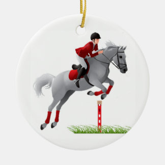 Equestrian Jumper Ceramic Ornament