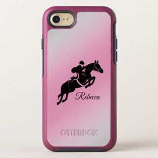 Equestrian Jumper Personal Pink iPhone Case