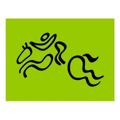 Equestrian Jumping Postcard