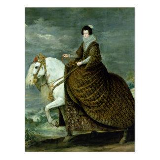 Equestrian portrait of Elisabeth de France Postcard