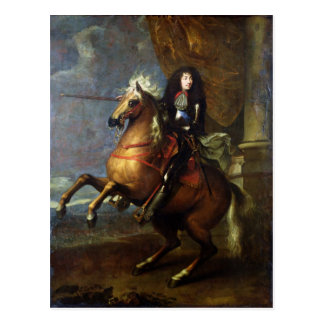 Equestrian Portrait of Louis XIV  c.1668 Postcard