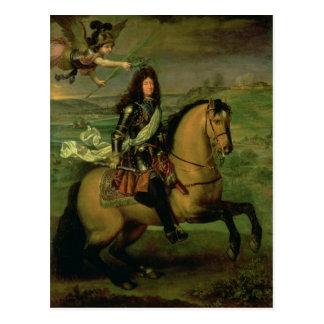 Equestrian Portrait of Louis XIV Postcard