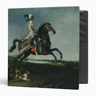Equestrian Portrait of Marie-Antoinette 3 Ring Binder