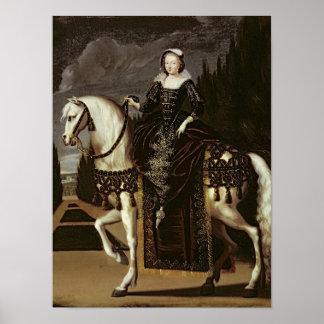 Equestrian Portrait of Marie de Medici Poster