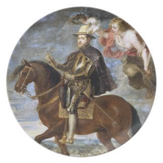 Equestrian Portrait of Philip II Peter Paul Rubens Plates