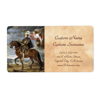 Equestrian Portrait of Philip II Peter Paul Rubens Shipping Label