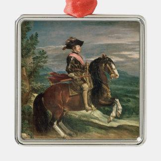Equestrian Portrait of Philip IV  c.1636 Metal Ornament