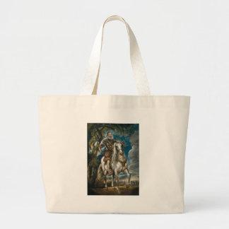 Equestrian Portrait of the Duke of Lerma - Rubens Large Tote Bag