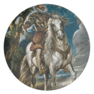 Equestrian Portrait of the Duke of Lerma - Rubens Plate