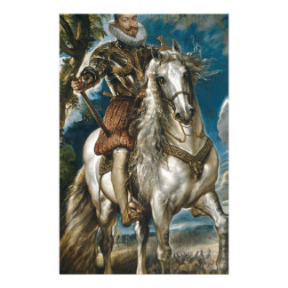 Equestrian Portrait of the Duke of Lerma - Rubens Stationery Paper
