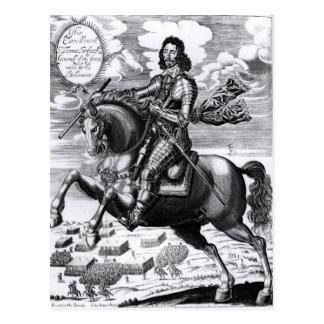 Equestrian portrait postcard