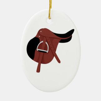 Equestrian Saddle Ceramic Ornament