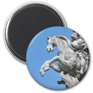 Equestrian statue 2 inch round magnet