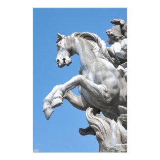 Equestrian statue custom stationery