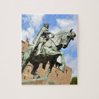 Equestrian statue in Barcelona, Spain Jigsaw Puzzle