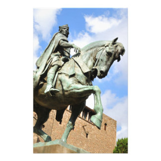Equestrian statue in Barcelona, Spain Stationery