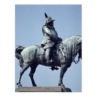 Equestrian statue of Charles Gustav X , Postcard
