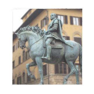 Equestrian statue of Cosimo de Medici, Florence Notepad