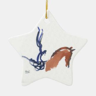 Equestrian Vaulters Ceramic Ornament