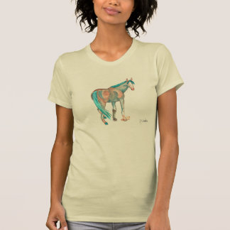 Equestrian Watercolor Abstract Horse Painting Tees