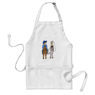Equestrian Wedding Horseback Riding Horses Standard Apron