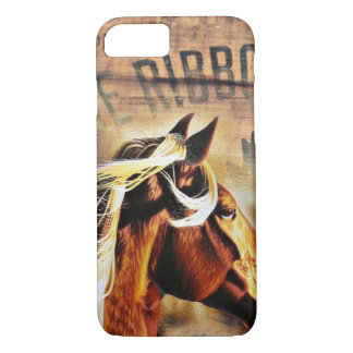 equestrian western country barn wood horse iPhone 8/7 case