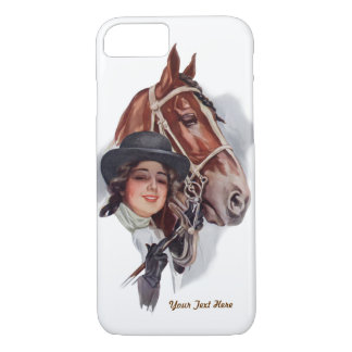 Equestrian Woman and Horse- Customize iPhone 7 Case