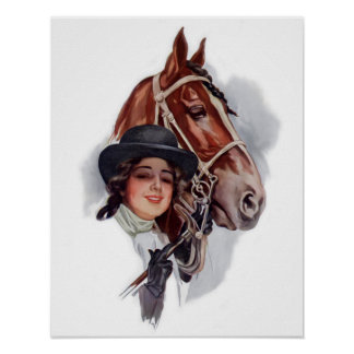 Equestrian Woman Poster