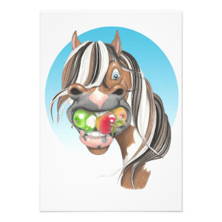 Equi-toons 'Apple Magnet' horse poster. Photo Print