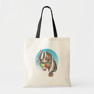 Equi-toons 'Apple Magnet' horse  tote bag.