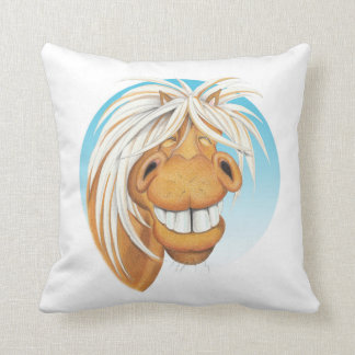 Equi-toons 'Cheeky Chappie' horse companion . Throw Pillow