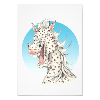 Equi-toons 'Domino' Appaloosa horse companion Photo Print