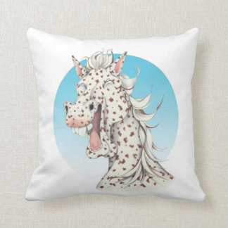 Equi-toons 'Domino' Appaloosa horse companion Throw Pillow