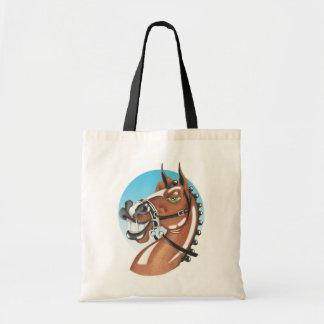Equi-toons 'Kerching'! brown horse companion.